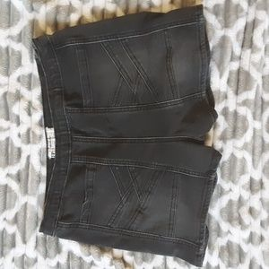 Free People Gray High Waisted Jean Shorts Size 28